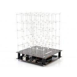 CUBE A LED 3D - 5 x 5 x 5 (LED BLANC)