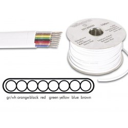 CABLE TELEPHONE 8 x 0.08mm - BLANC. PLAT
