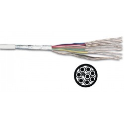 MULTICABLE BLINDE 8 x 0.19mm 1//BLANC