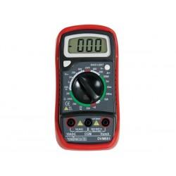 MULTIMETRE NUMERIQUE LCD 3 1/2 - 10A / FONCTION MEMOIRE / RETROECLAIRAGE