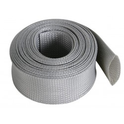 GAINE POUR CABLE - FLEXIBLE - 40 mm x 5 m - GRIS
