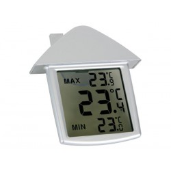 THERMOMETRE DE FENETRE TRANSPARENT AVEC INDICATIONS MIN/MAX