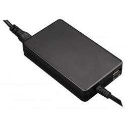 MINI ADAPTATEUR UNIVERSEL POUR ORDINATEUR PORTABLE - SORTIE 19 VCC - 4.74 A MAX. (90 W) USB 2.1 A - SANS FICHES