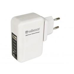STATION D'ALIMENTATION/CHARGEUR USB AVEC FICHES DE VOYAGE