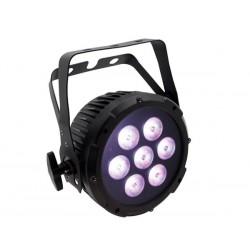 LUXIBEL - MINI SPOT PAR PRO A LED - NOIR - 7 x LED RGBW DE 8W