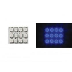 MODULE D'ECLAIRAGE - LED BLEUES A DIFFUSEUR ROND - 12V - 17 x 20mm