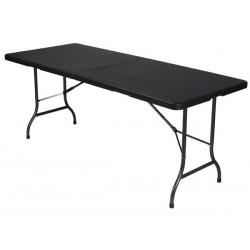 TABLE PLIANTE - IMITATION ROTIN - 180 x 75 x 74 cm