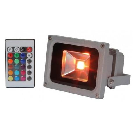 PROJECTEUR LED D'EXTERIEUR - PUCE LED RVB DE 10 W - TELECOMMANDE IR
