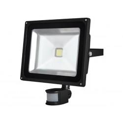PROJECTEUR LED D'EXTERIEUR AVEC CAPTEUR PIR - PUCE EPISTAR 50 W - 6500 K