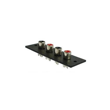 CHASSIS RCA AMP 4P - NICKEL