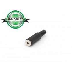 JACK FEMELLE 2.5mm MONO PLASTIQUE NOIR