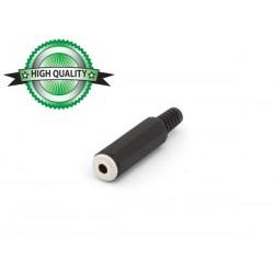 JACK FEMELLE 3.5mm MONO PLASTIQUE NOIR