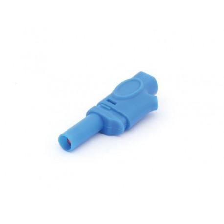 FICHE BANANE 4mm SELON IEC1010 - BLEU