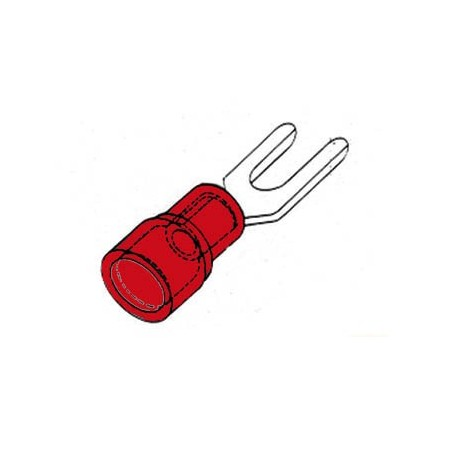 COSSE A FOURCHE 5.3mm - ROUGE