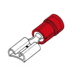 COSSE FEMELLE 4.8mm ROUGE