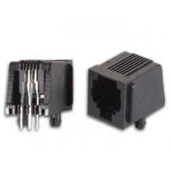 CONNECTEURS MODULAIRES POUR CI RJ12 6P4C. VERSION COUDE
