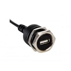 CONNECTEUR USB FEMELLE POUR CHASSIS AVEC CABLE DE 30CM