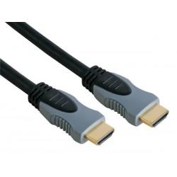 HDMI MALE 19P VERS HDMI MALE 19P - DORE - 3m