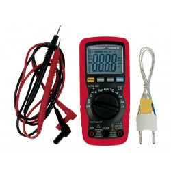 MULTIMETRE NUMERIQUE 3 3/4 DIGITS AVEC SELECTION DE PLAGE AUTOMATIQUE - 10A / FREQUENCE / CAPACITE / MESURAGE RELATIF