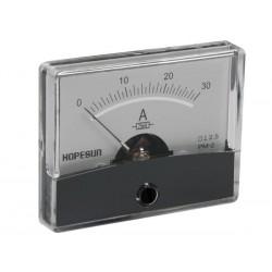 AMPEREMETRE ANALOGIQUE DE TABLEAU 30A CC / 60 x 47mm