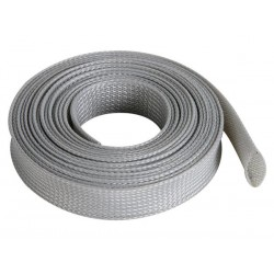 GAINE POUR CABLE - FLEXIBLE - 20 mm x 5 m - GRIS