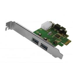 EMINENT - CARTE PCIe AVEC 2 PORTS USB 3.0 ULTRARAPIDES