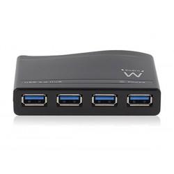 EMINENT - HUB USB 3.0 A 4 PORTS AVEC ADAPTATEUR RESEAU EXTERNE