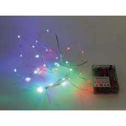 GUIRLANDE A LED - RGB - 20 LED - SUR PILES