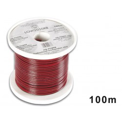 CABLE HAUT-PARLEUR - ROUGE/NOIR - 2 x 0.50mm² - 100m