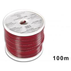 CABLE HAUT-PARLEUR - ROUGE/NOIR - 2 x 0.75mm² - 100m