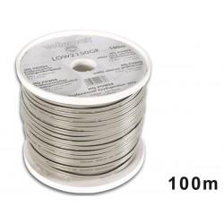 CABLE HAUT-PARLEUR - GRIS - BANDE NOIRE - 2 x 1.50mm² - 100m
