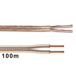 CABLE PROFESSIONNEL POUR ENCEINTES 2 x 2.50mm - TRANSPARENT