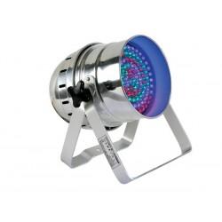 PROJECTEUR LED PAR56 - MODELE COURT - CHROME - DOUBLE SUPPORT - 108 LED DE 10mm