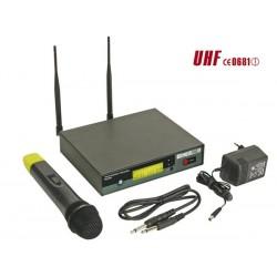 MICROPHONE PLL UHF TRUE DIVERSITY SANS FIL A 8 CANAUX AVEC AFFICHEUR LCD