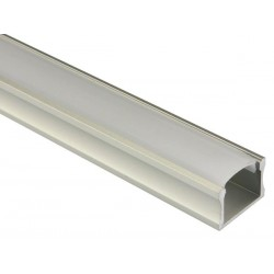 PROFILE EN ALUMINIUM POUR FLEXIBLES LED - PLAT / LARGE / HAUT - 2 m