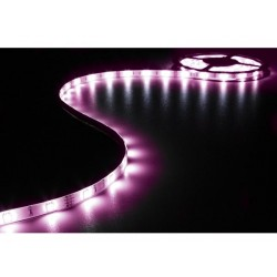 ENSEMBLE DE BANDE A LED FLEXIBLE. CONTROLEUR ET ALIMENTATION - RVB - 90 LEDS - 3 m - 12 Vcc