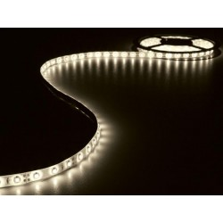 ENSEMBLE DE BANDE A LED FLEXIBLE ET ALIMENTATION - BLANC CHAUD - 300 LED - 5 m - 12Vcc