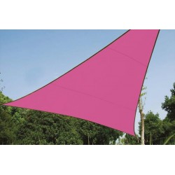 VOILE SOLAIRE - TRIANGLE - 3.6 x 3.6 x 3.6 m - COULEUR: FUCHSIA