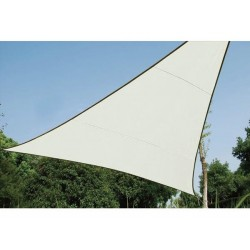 VOILE SOLAIRE - TRIANGLE - 5 x 5 x 5 m - COULEUR: CREME