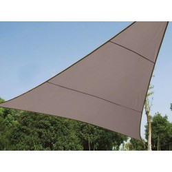 VOILE SOLAIRE - TRIANGLE - 5 x 5 x 5 m - COULEUR: GRIS TAUPE