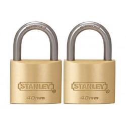 STANLEY - CADENAS - EN LAITON MASSIF - ANSE STANDARD - 40 mm - 2 pcs