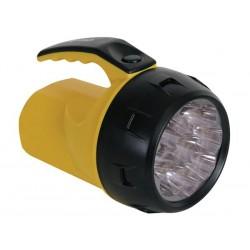 LAMPE-TORCHE LED PUISSANTE - 9 LEDs - 4 x PILE R6