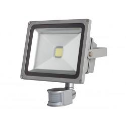 PROJECTEUR LED D'EXTERIEUR AVEC CAPTEUR PIR - PUCE EPISTAR 30 W - 3000 K