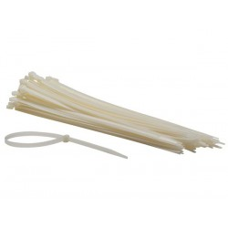 COLLIERS DE SERRAGE EN NYLON - 7.8 x 400 mm - BLANC (100 pcs)