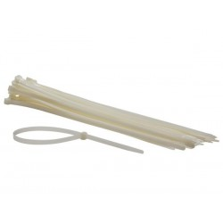 COLLIERS DE SERRAGE EN NYLON - 8.8 x 500 mm - BLANC (50 pcs)
