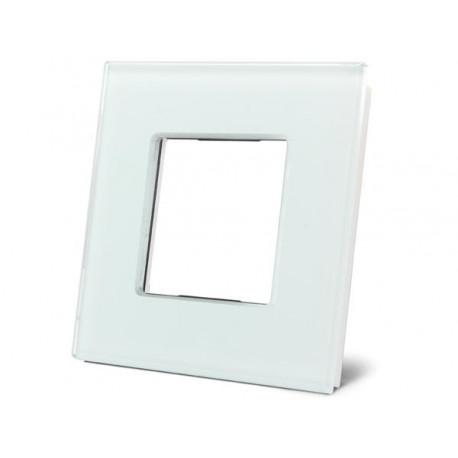 plaque de recouvrement en verre pour BTicino® LivingLight. blanc