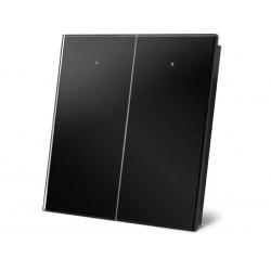 module de commande en finition verre avec touches tactiles doubles. noir