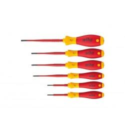wiha jeu de tournevis softfinish® electric slimfix torx® tamper resistant 6 pcs (41245)